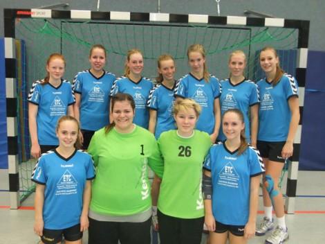 B-Jugend Maedchenmannschaft Handball