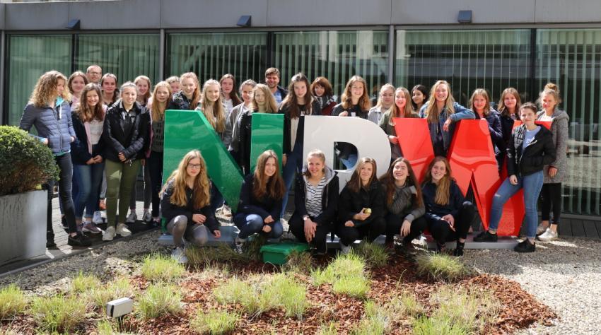 Siebzehn Schülerinnen verbrachten ihren Girls' Day in Brüssel