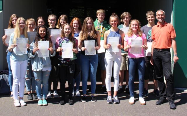 Schüler erhielten Englisch-Diplome