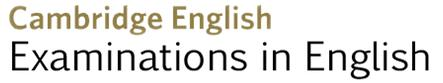 Cambridge English Examinations in English