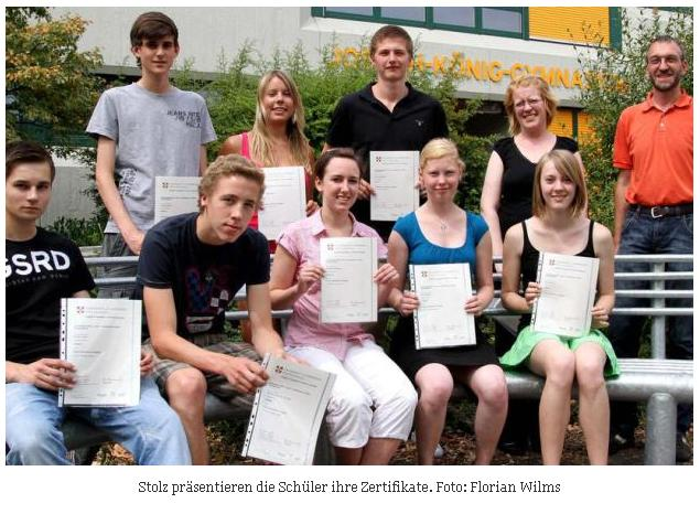 Cambridge-Pruefungen erfolgreich absolviert 2010