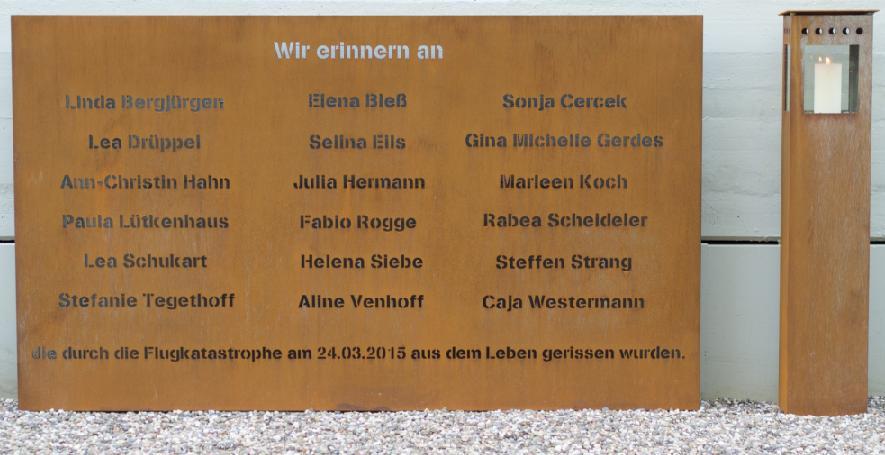 Gedenktafel Namen