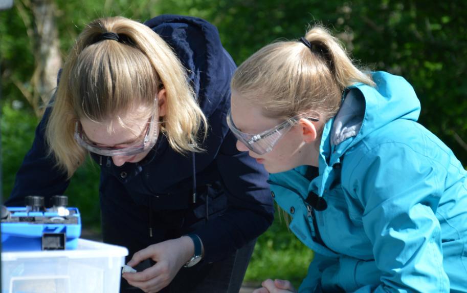 Nachwuchs-Biologen untersuchen Gewässer