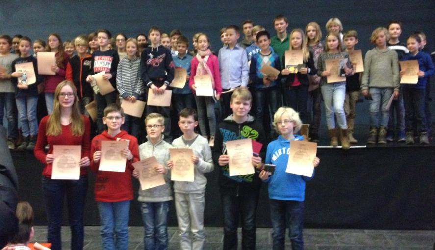 Preisträger in Kreisrunde der Mathematik-Olympiade ausgezeichnet