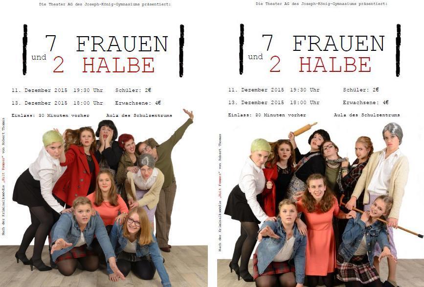 Sieben Frauen und zwei halbe 2015 Flyer1u2