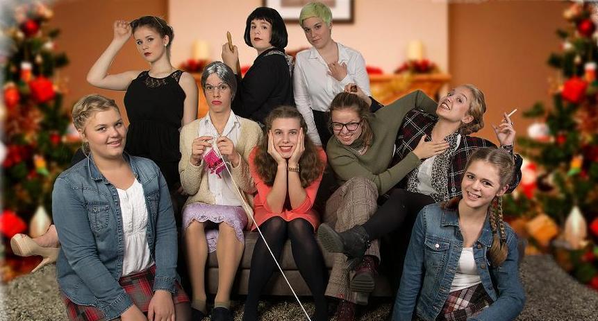 Sieben Frauen und zwei halbe Slider