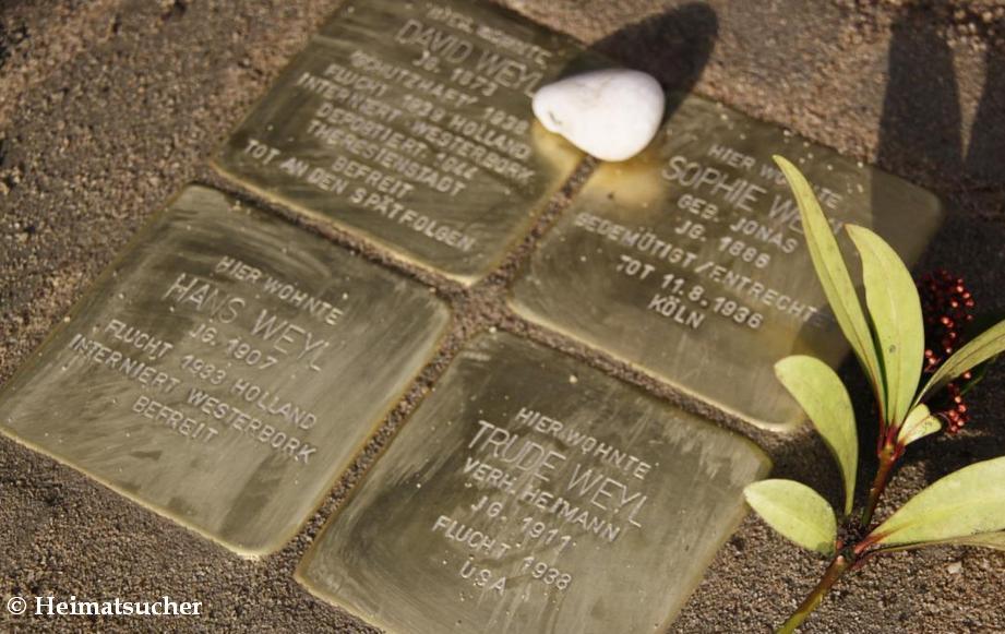 Stolpersteinverlegung für Angehörige der Familie Weyl in Kleve
