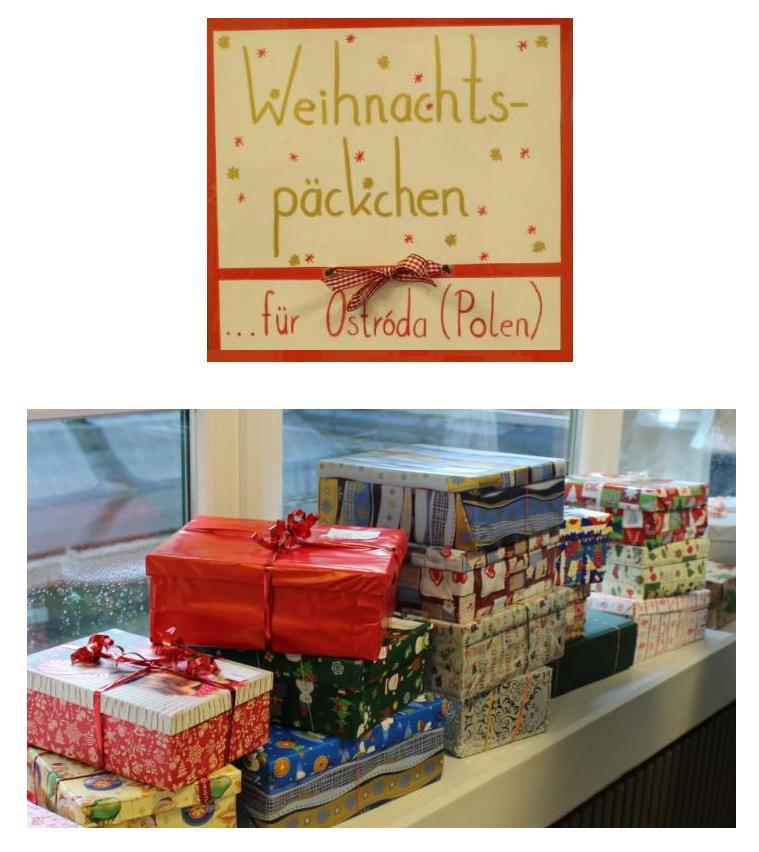 Mach mit! Aktion Weihnachtspäckchen für Ostróda