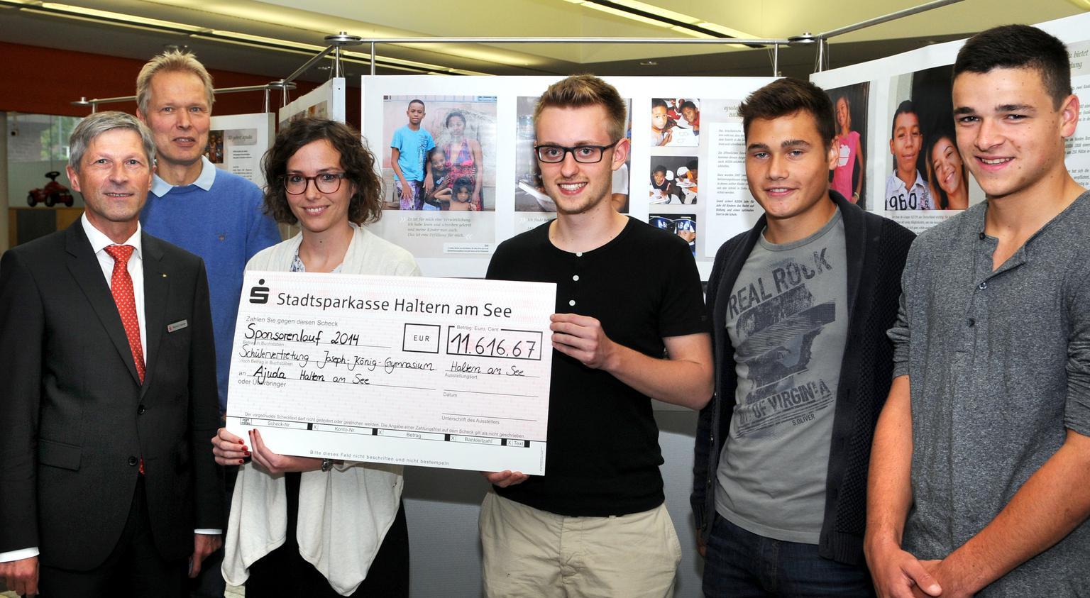 Schüler spenden 11616 Euro für Kinder in Brasilien