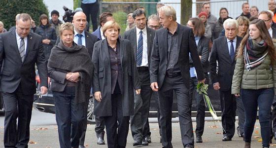 Bundeskanzlerin Merkel gedenkt der Opfer aus unserer Schulgemeinde