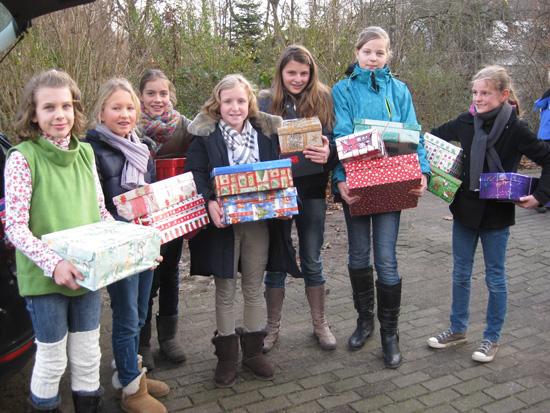 Weihnachtspäckchen für Ostróda